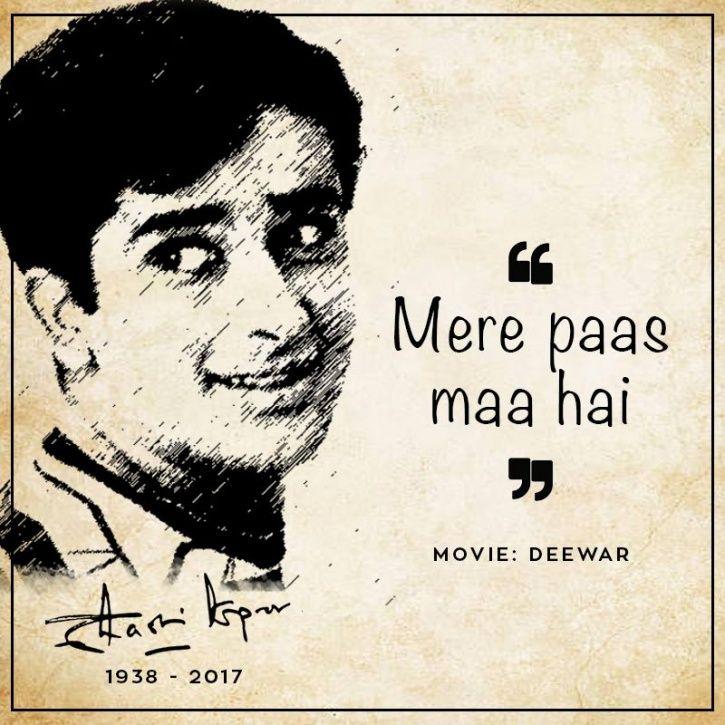 Shashi Kapoor dialogues