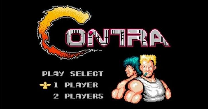 Contra opening credits of the game