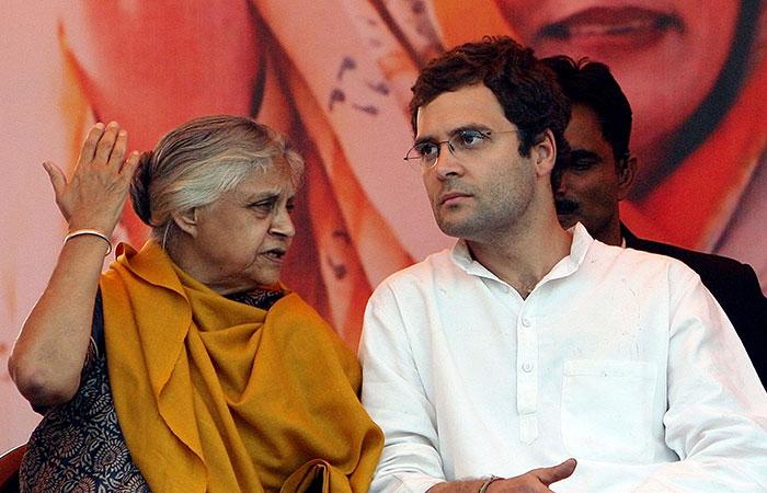 Sheila Dikshit and Rahul Gandhi