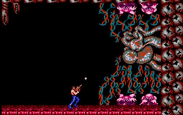 The final boss of Contra, an alien overlord