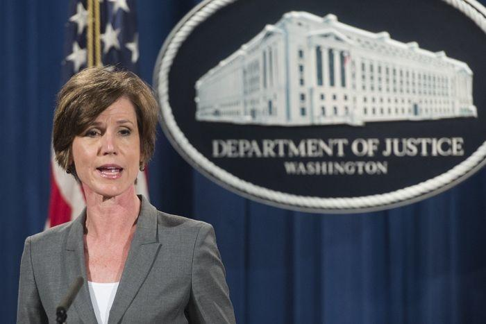 Deputy Attorney General Sally Yates