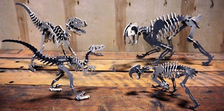 boneyard 3d aluminium dinosaur skeleton
