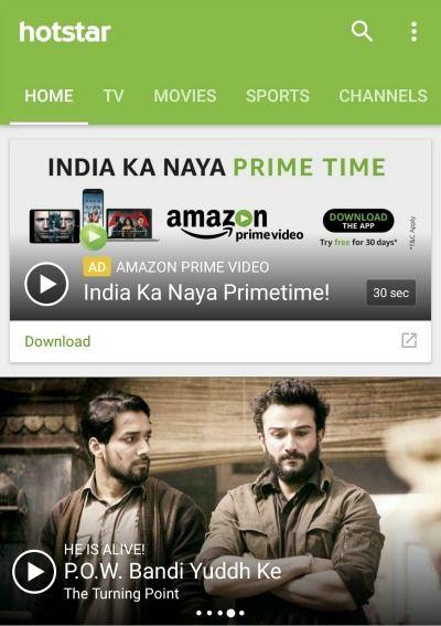 Hotstar Amazon Prime Video VOD streaming in India