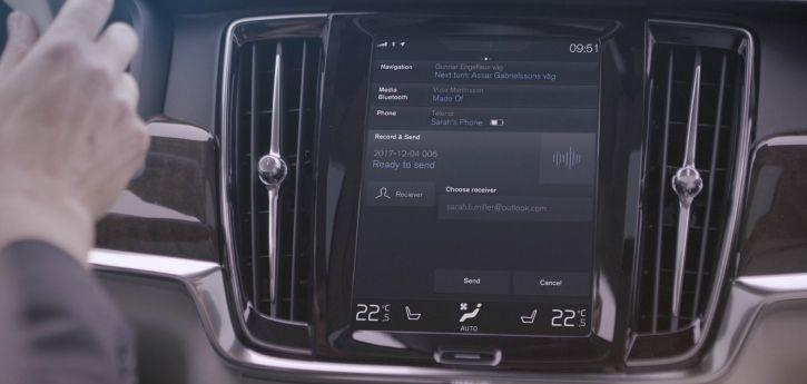 Microsoft Connected Vehicle Platform Skype for Business in A Volvo Car