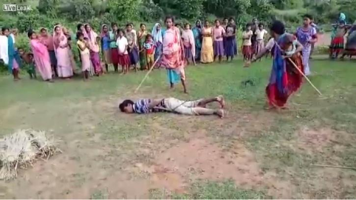 Village Women Beat The Hell Out Of A Man For Allegedly Raping A