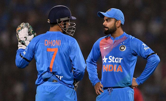 Virat Kohli and MS Dhoni