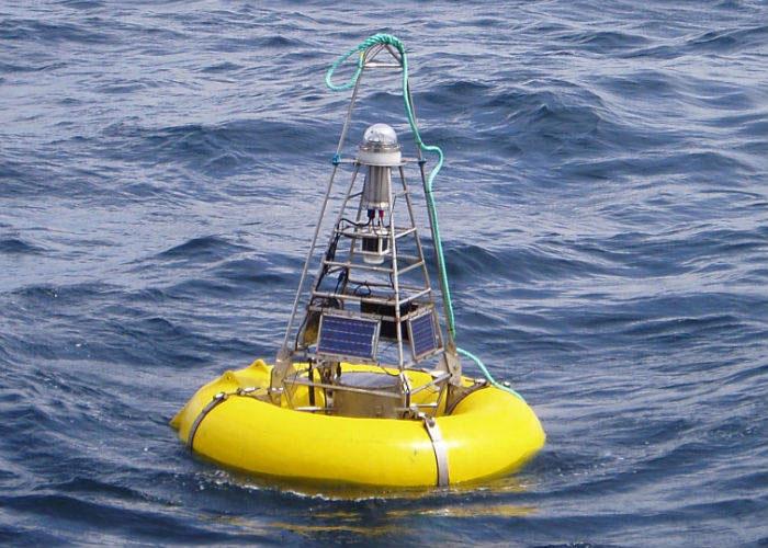 Estación de monitoreo de Tsunamis. Mide las variaciones del nivel del mar u océano
