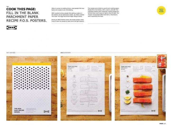 IKEA Canada in its latest endeavour has taken out a poster series, Cook This Page, with recipes printed on a single piece of parchment paper with stepwise instructions