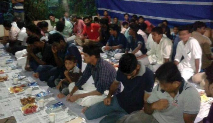 Iftar held in Hindu temple