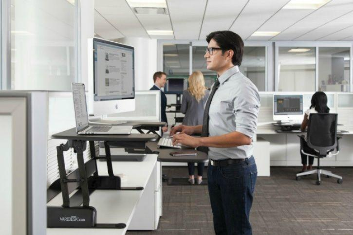 Standing desks can improve your overall posture and core strength