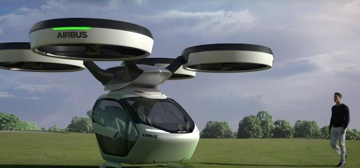 airbus flying taxi drone pop.up car