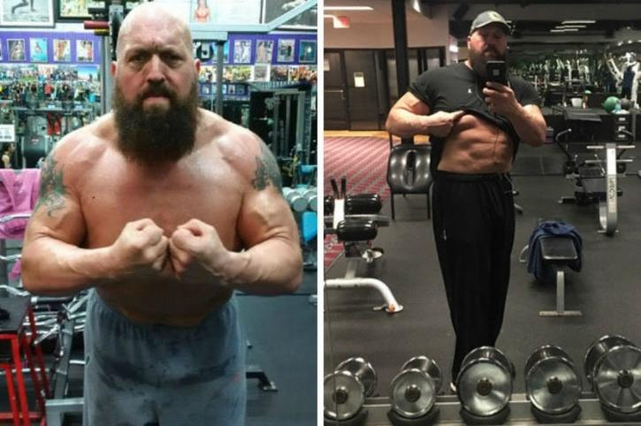 Big show packing on muscle