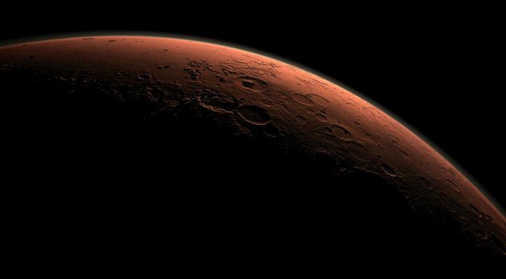 A computer-generated image of Mars - NASA