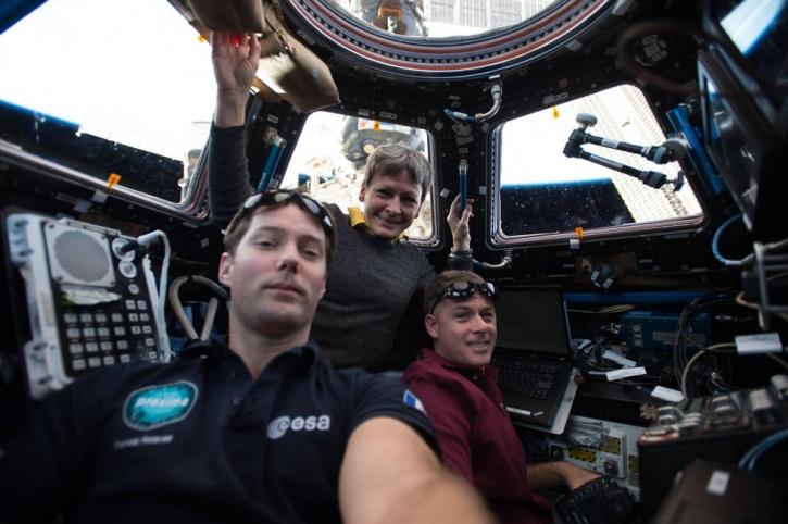 (L-R) Thomas Pesquet, Peggy Whitson and Shane Kimbrough - NASA