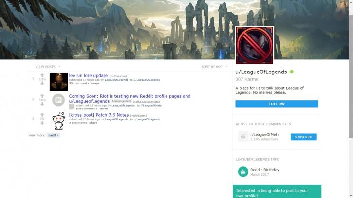 Reddit Profile