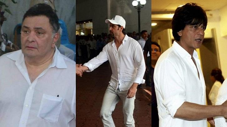 Rishi Kapoor, Hrithik Roshan and SRK