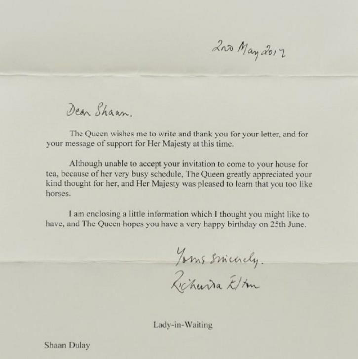 4 year old indian origin boy invites queen elizabeth on his birthday nti stopboris Choice Image