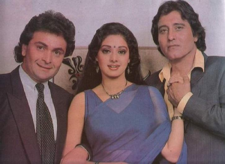 Rishi Kapoor, Sridevi and Vinod Khanna