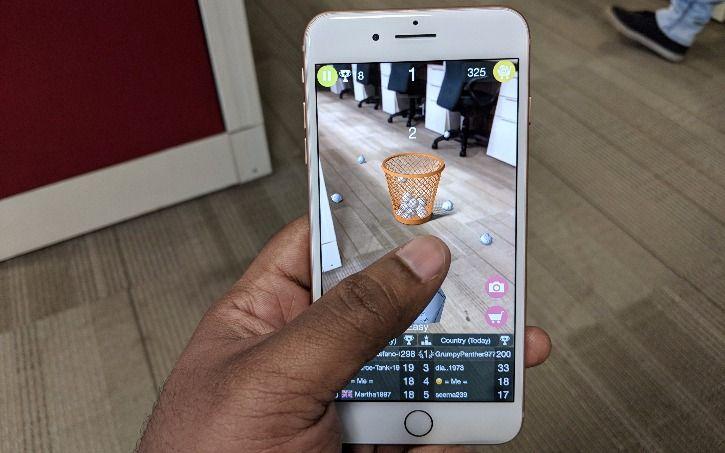 AR on iOS 11 on iPhone 8 Plus