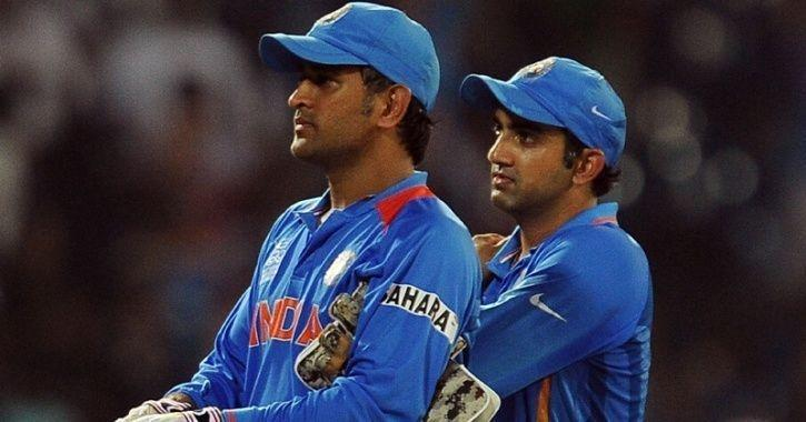 Image result for dhoni and gambhir
