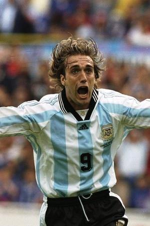 Gabriel Batistuta neeted 54 goals in 77 internationals