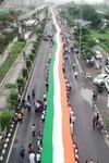 1100 Feetlong Flag Unfurled In Surat