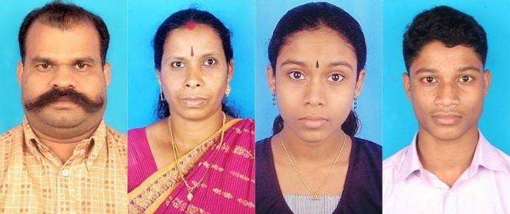 Four Member Family In Kerala