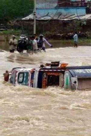 India MP Madhya Pradesh Flash Floods People Indian People Nature