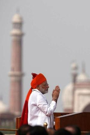 PM Modi Invokes Terrorism Digital India Manned Space Mission In His Last Independence Day Speech
