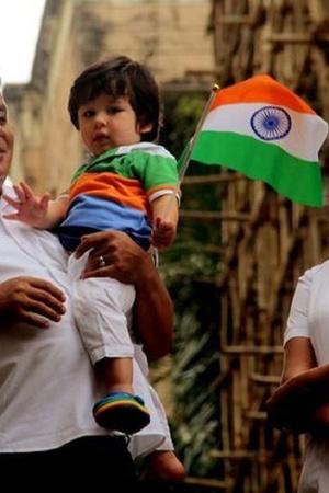 Taimur Ali Khan Is The Cutest Patriot As He Hoists The Tricolour On Independence Day