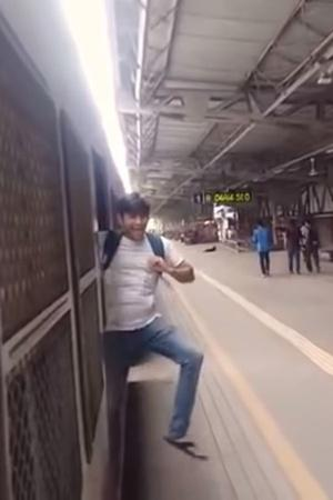 Three young men from Virar seen in a video performing Kiki challenge have been directed by a railway