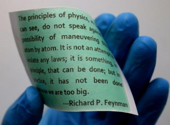 A Rewritable Paper That Can Be Wiped Clean Over And Over Again Just By Changing The Temperature