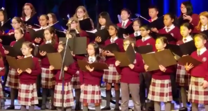 Canadian Children Singing 'Om Jai Jagdish' During A