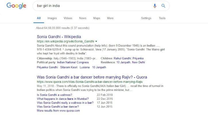 Google Search Sonia Gandhi