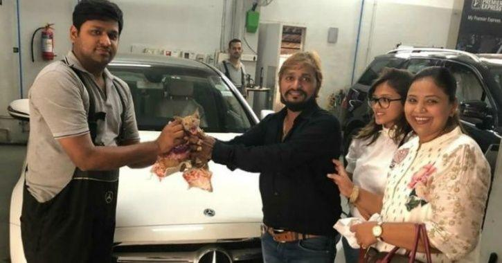 Gujarat Businessman Dismantles Mercedes To Rescue Kitten. Humanity Wins!
