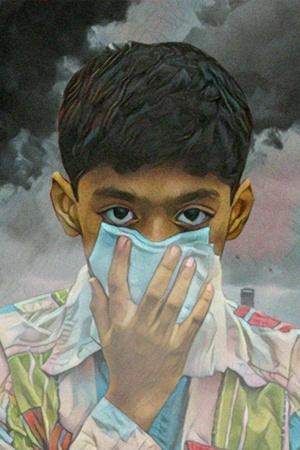 Indian medical research air pollution deaths tobacco WHO particulate matter