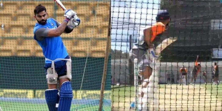 Virat Kohli was having a net session