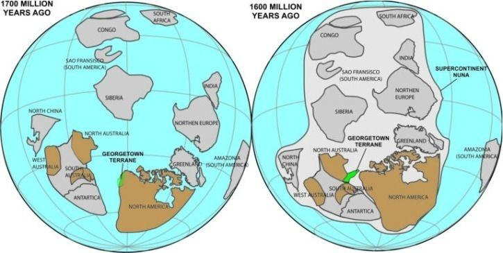 Even after 17 billion years heres how australia north america georgetown then broke away from north america and collided with the mount isa region of northern australia around 100 million years later nordsvan said sciox Image collections
