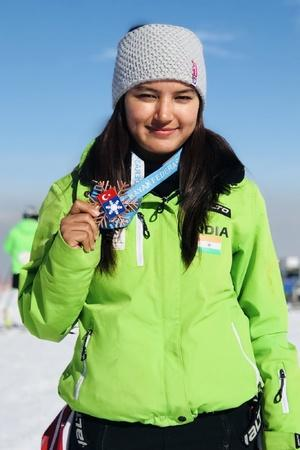 Aanchal Thakur wins the first international skiing medal for India