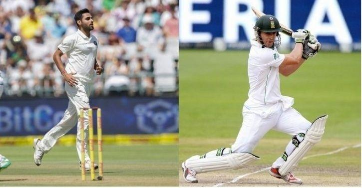 AB de Villiers fought back after Bhuvneshwar Kumar took 3 early wickets