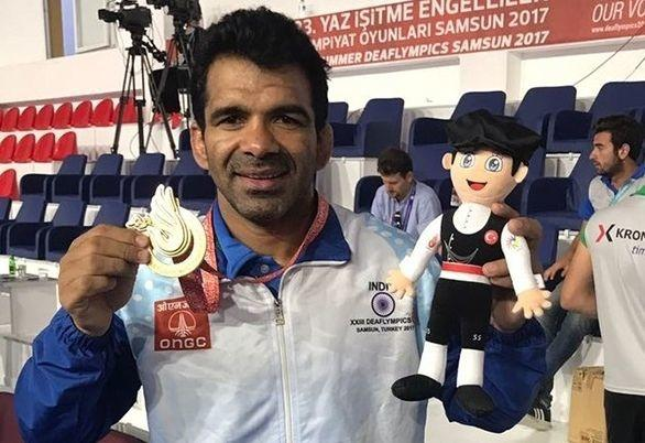 Virender Singh has won 3 gold medals in Deaflympics