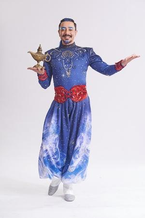 Genie has come to delhi for aladdin musical broadway show