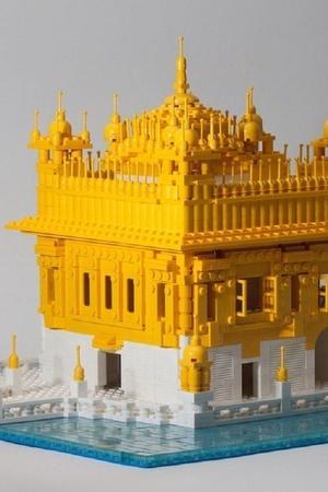 Golden Temple People Temple Worship God Amritsar Lego Blocks
