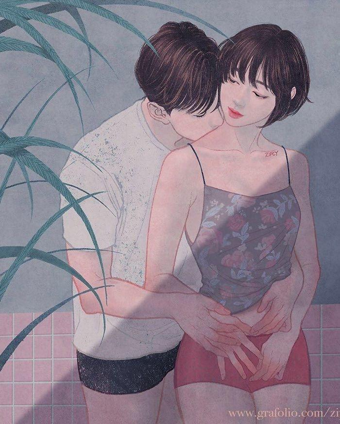 21 Illustrations That Captures Love And Intimacy So Intricately You Can Almost Feel It