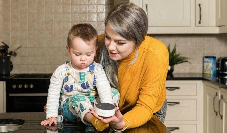 a uk baby s 1st ever word was alexa to the amazon echo showing