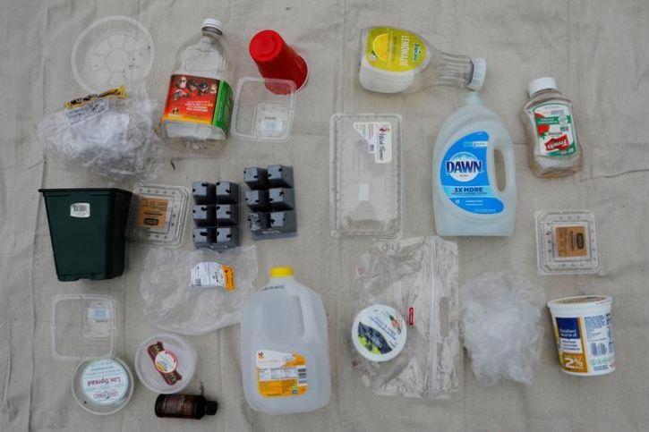 Wilbur family plastic waste