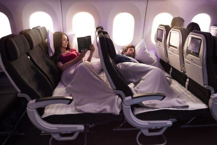 Air New Zealand S New Economy Skycouch Seats Allows