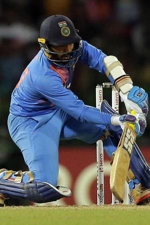 Dinesh Karthik made 29 not out in 8 balls