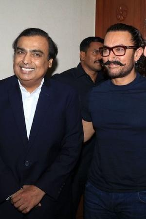Mukesh Ambani and Aamir Khan