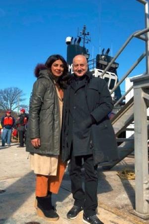 Priyanka Chopra and Anupam Kher